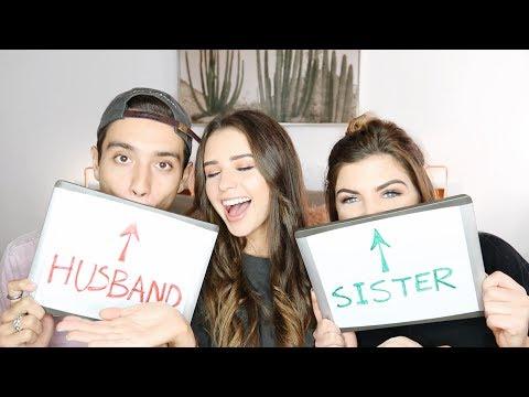 SISTER VS HUSBAND | Jess Conte ft. Gabriel Conte & Sarah Bauer