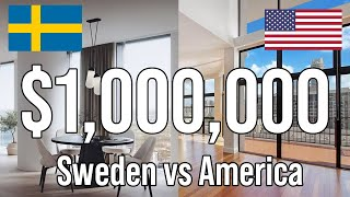 Million Dollar Homes In The US vs Sweden
