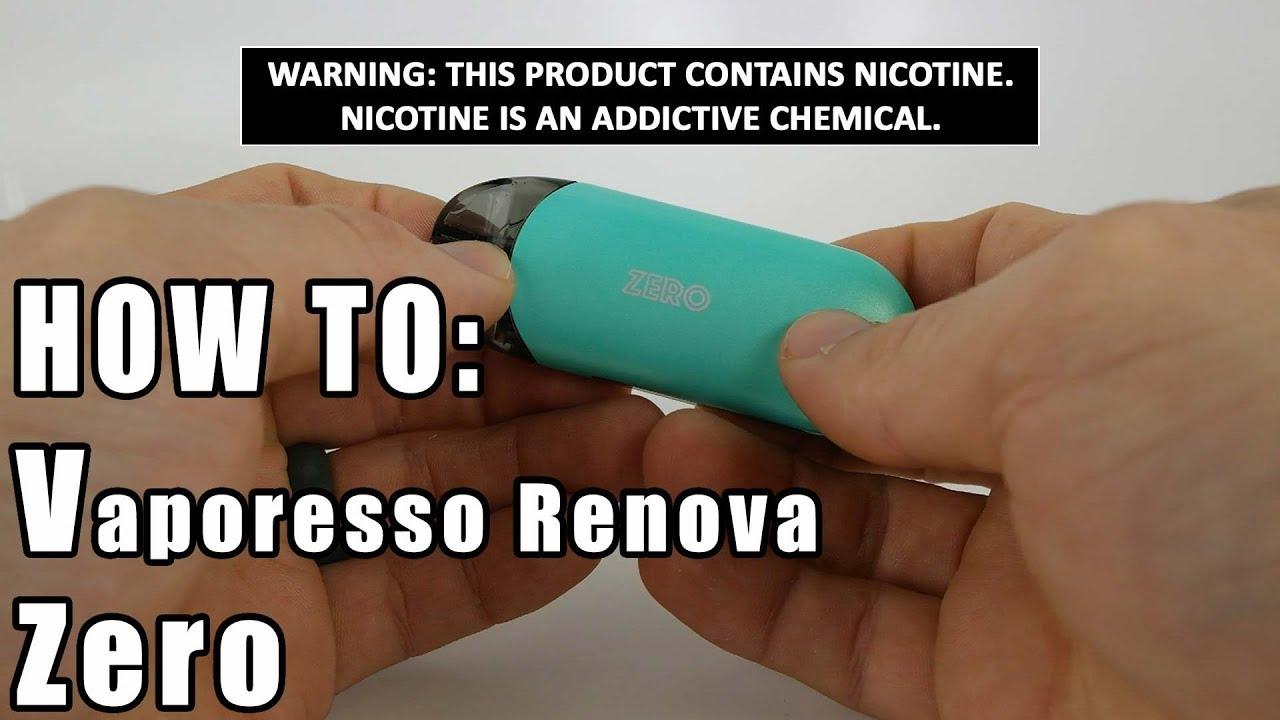 How to: Vaporesso Renova Zero Pod Vape   Vaporleaf