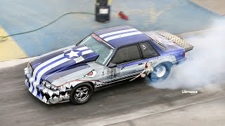 FIGHTER PLANE THEMED MUSTANG! RDP MOTORSPORT! FIRST TIME OUT! BYRON DRAGWAY!