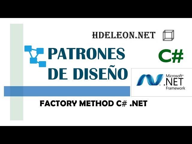 Factory Method en C# .Net   Patrones de diseño   design patterns   #4