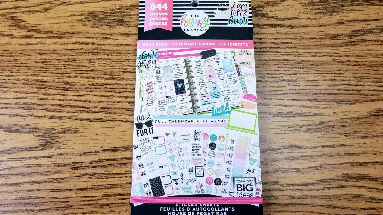 New Happy Planner Boss Babe Sticker Book Flip Through