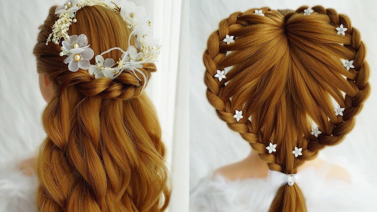 Flower Hairstyle & Heart Hairstyles | Easy Braid Hairstyles Tutorial For Beginners | Cute Hairstyles