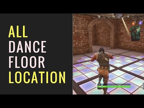 Fortnite - Dance On Different Dance Floors Challenge - ALL DANCE FLOOR LOCATION