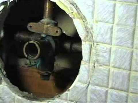 Replace Stuck Moen Shower Faucet Cartridge - YouTube