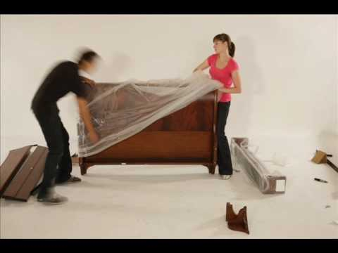 Stratford Sleigh Bed Assembly Youtube