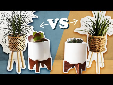 Can we recreate these EXPENSIVE plant stands?!