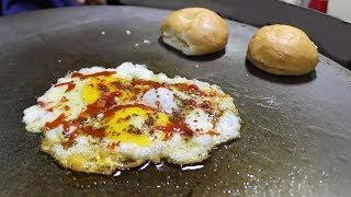 BEST EGG HALF FRY & OMELETTE   Egg Street Food in India   Street Food Unlimited