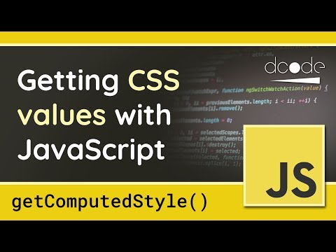 Getting CSS Styles With JavaScript - GetComputedStyle() Function