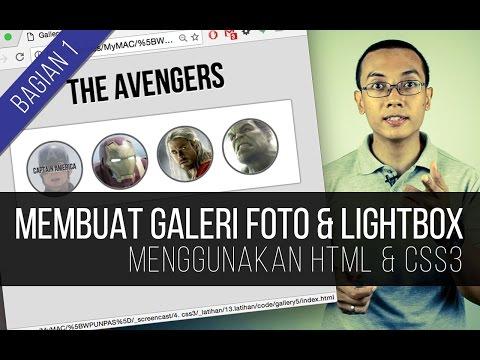 Membuat GALERI FOTO + LIGHTBOX Dengan HTML & CSS3 (Bagian 1)