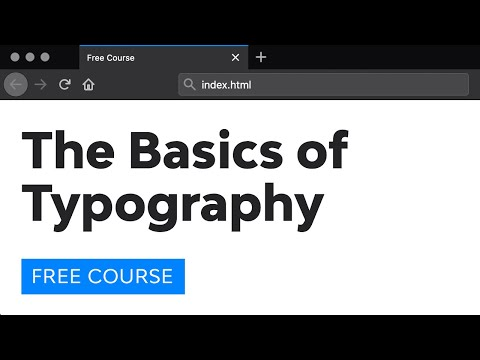 Day 19: The Basics of Typography (30 Days to Learn HTML & CSS)