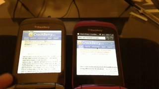 Opera Mini VS BlackBerry Webkit browser speed test on the Sprint Style 9670 screenshot 3