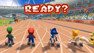 Mario and Sonic at the London 2012 Olympic Games - 100m Sprint
