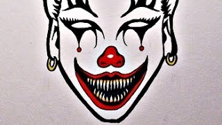 How To Draw an EVIL CLOWN GIRL