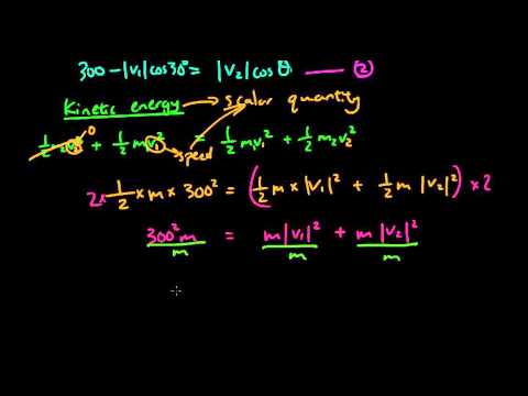 Vector applications question - Elastic collision, momentum, and kinetic energy