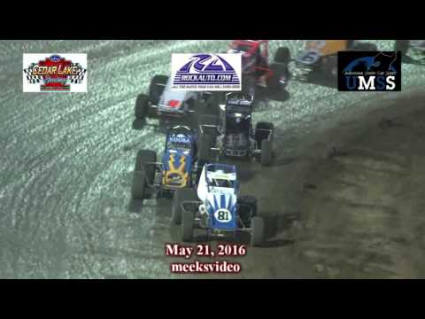 5-21-2016 UMSS Wingless Sprints Cedar Lake Speedway