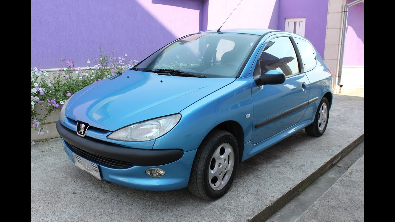 peugeot 206 1 4 petrol 2000 blue youtube. Black Bedroom Furniture Sets. Home Design Ideas