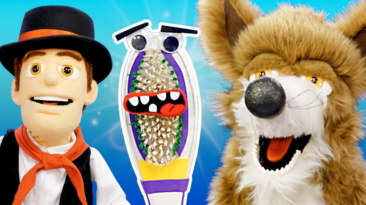 O Lobo Beto Ganha uma Escova de Dente - As Marionetes Da Fazenda | O Reino Infantil