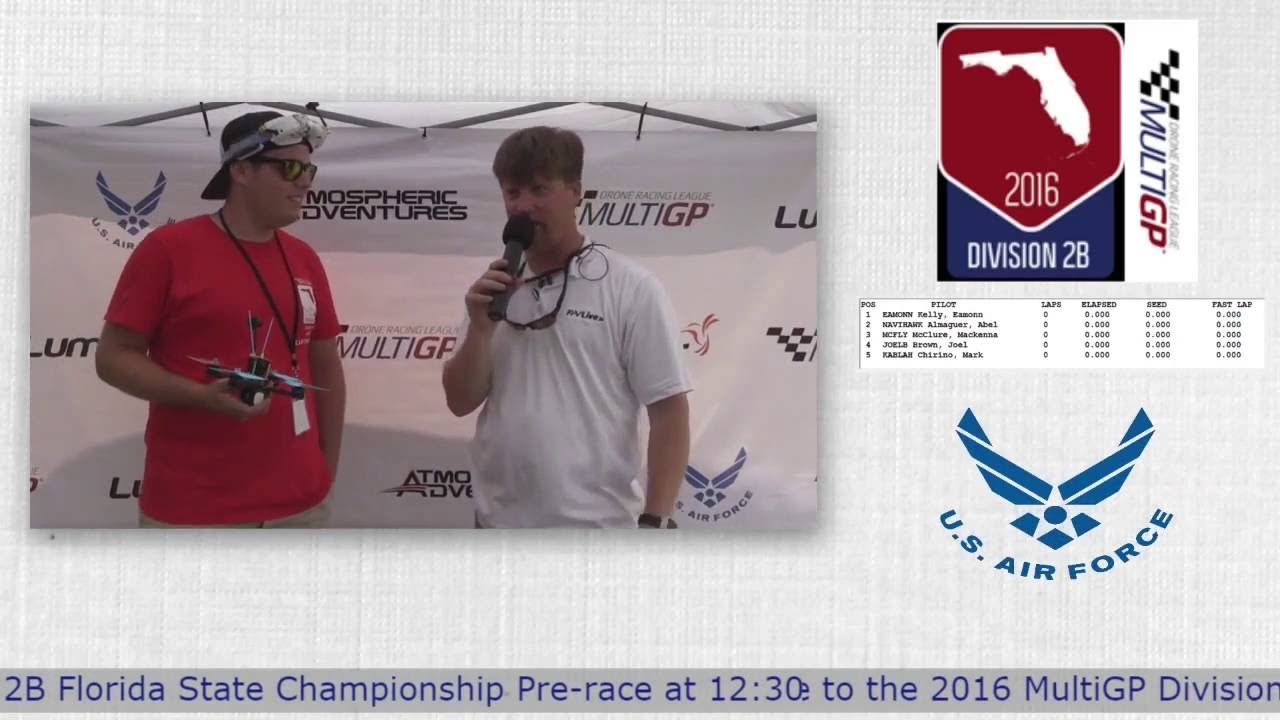 2016 MultiGP 2B Florida Finals Davis Drake Interview