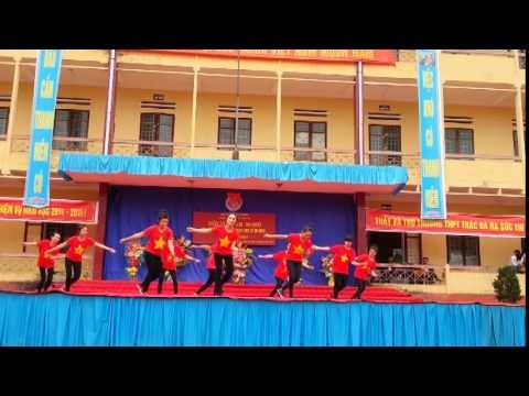 Trường THPT Thác Bà   Nhảy Liên khúc Việt Nam Ơi 12D1