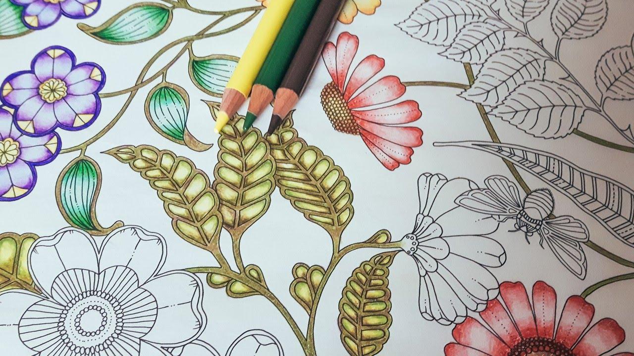 Coloring Tutorial Secret Garden Pt 2