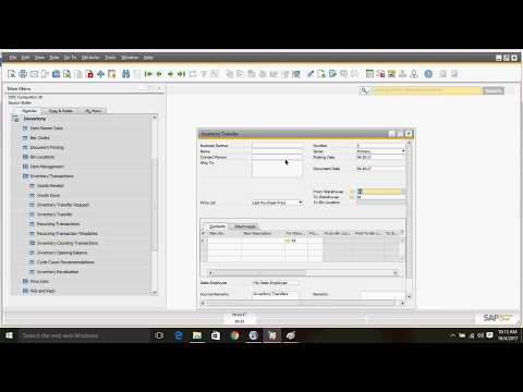 Inventory Transfer in SAP Business One