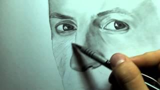 Drawing Chester Bennington by Paul Zabrutsky