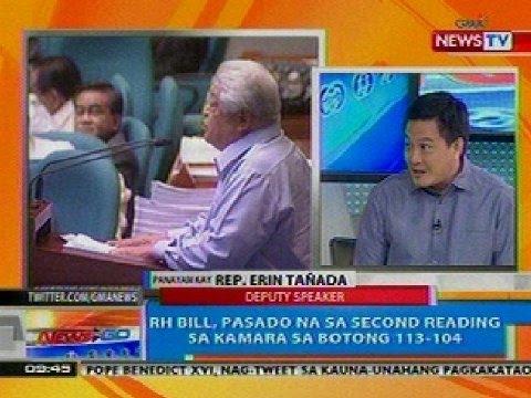 NTG: Panayam kina Rep. Erin Tañada at Rep. Edcel Lagman kaugnay sa RH Bill (Dec. 13, 2012)