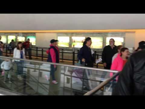 Security line at San Jose airport - 21 May 2016