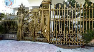 Cổng Nhôm Đúc Hoành Tráng Tại Long An