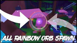 All Rainbow Orb Spawn (5 Location) | Roblox Ninja Wizard Simulator
