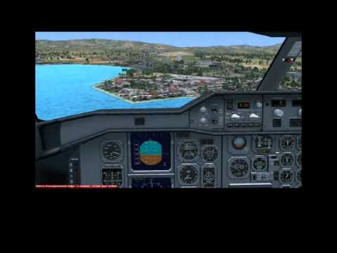 Approaching Fort de France airport with an Airbus A310