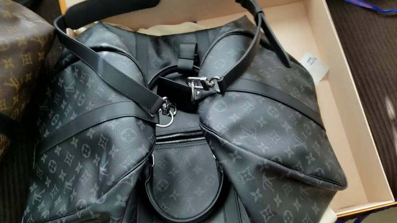 33c0e796c8f0 Unboxing of Louis Vuitton ECLIPSE KEEPALL 55 Limited Release New Men s  Duffel Bag! - YouTube