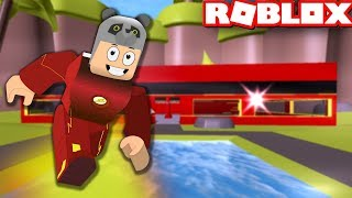 We've built a Superhero Flash Factory! - Roblox The Flash Tycoon with Panda