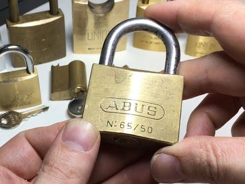 Взлом отмычками ABUS 65/50  (169) Abus 65/50 Padlock Picked - Packages From Apache-Locksport