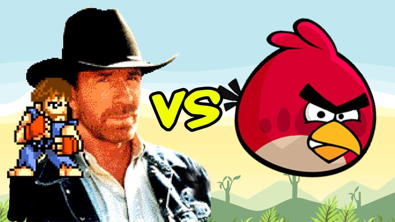 Chuck Norris Vs Angry Birds Youtube