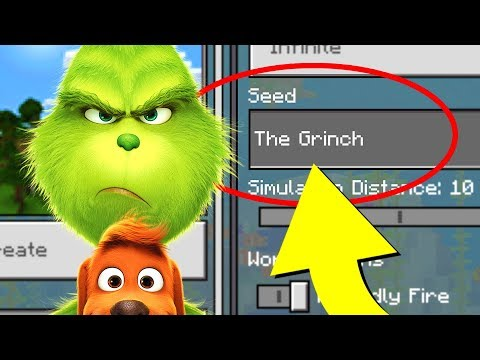 "Minecraft ""THE GRINCH"" World (Dr. Seuss' The Grinch Minecraft Seed)"
