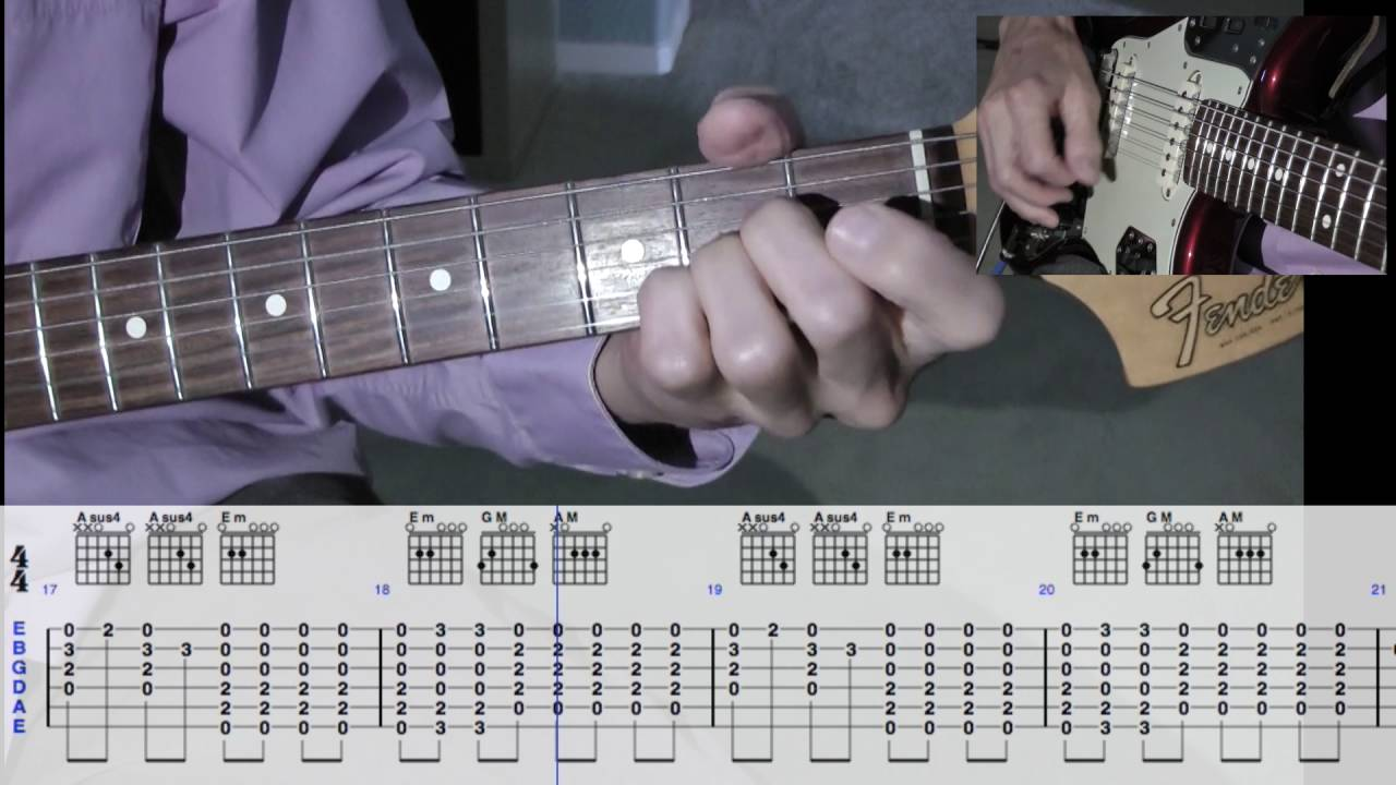Love Is All Around Guitar Lesson With Tabs Youtube