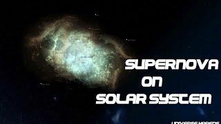 Supernova on Solar System (SIMULATION)