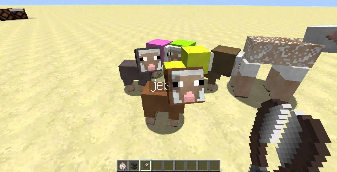 Как сделать разноцветных овец 399