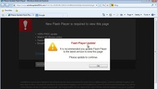 "How to remove ""Flash Player Update!"" popup from www.adobeupdate2014.com virus"