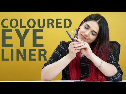 Coloured EyeLiner Tutorial by Naima | Foxy Makeup Tips thumbnail