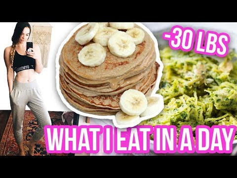 WHAT I EAT IN A DAY TO LOSE WEIGHT! How I lost 30 Pounds Fast