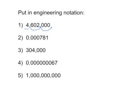 scientific and engineering notation practice
