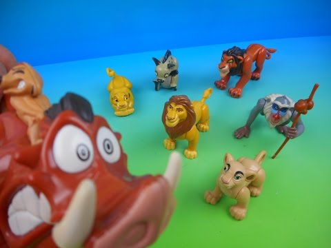1994 WALT DISNEY'S THE LION KING SET OF 7 BURGER KING KID'S MEAL MOVIE TOY'S VIDEO REVIEW