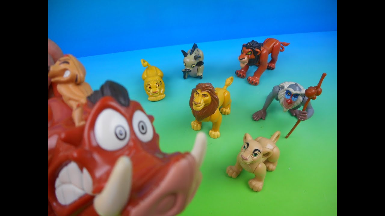 1994 walt disney u0026 39 s the lion king set of 7 burger king kid