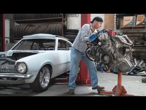 Dodge Viper V10 in a Ford Maverick Build Video 3 - Engine Removal / Oil Pan Issues