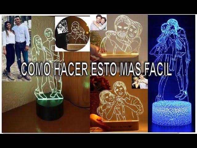 Como Hacer Lamparas Led Personalizadas De Fotos Reales Youtube