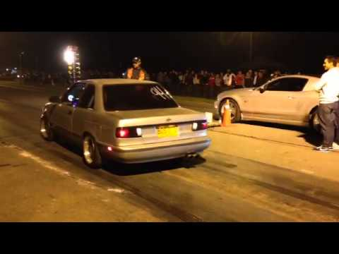 nissan sentra b13 vs  Mustang 5.0 supercharged Tocancipa
