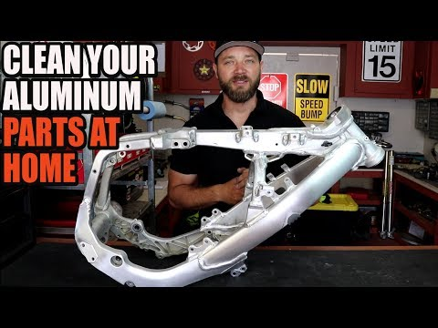 How to clean aluminum dirt bike frame at home. RMZ 450 build Part 6